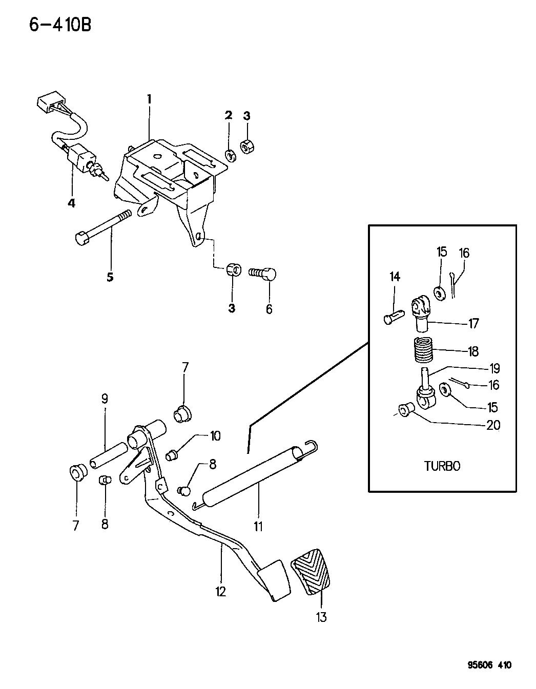 1996 Dodge Avenger Clutch Pedal Mopar Parts Giant Engine Diagram