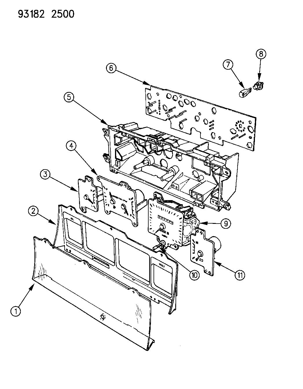 1993 Dodge Dynasty Instrument Panel Cluster Mopar Parts