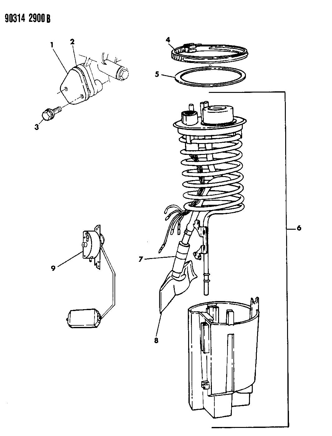 1990 Dodge Ramcharger Fuel Pump Module