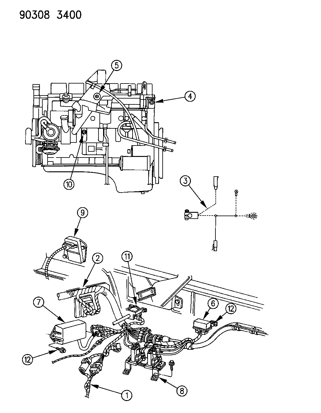 4429547 - genuine mopar sensor-temperature 1981 dodge d150 wiring diagram