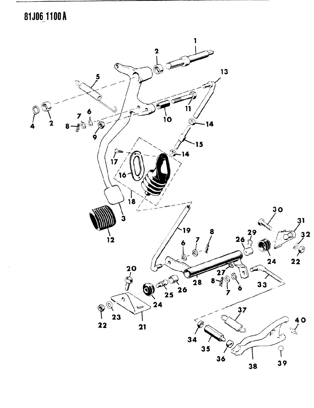 1985 Jeep J20 Pedal - Clutch Linkage