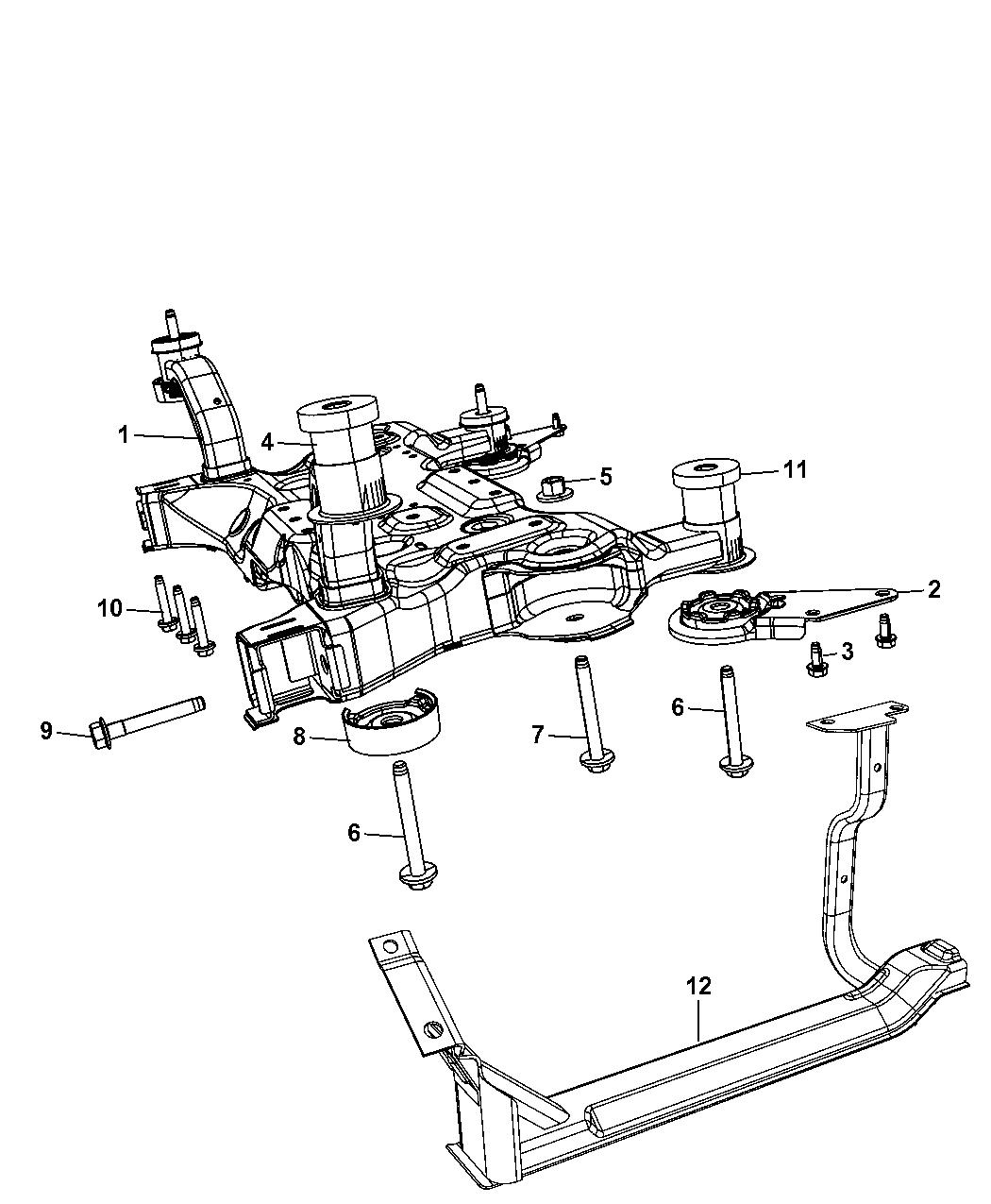 2009 Dodge Journey Crossmember Front Suspension Wiring Schematic