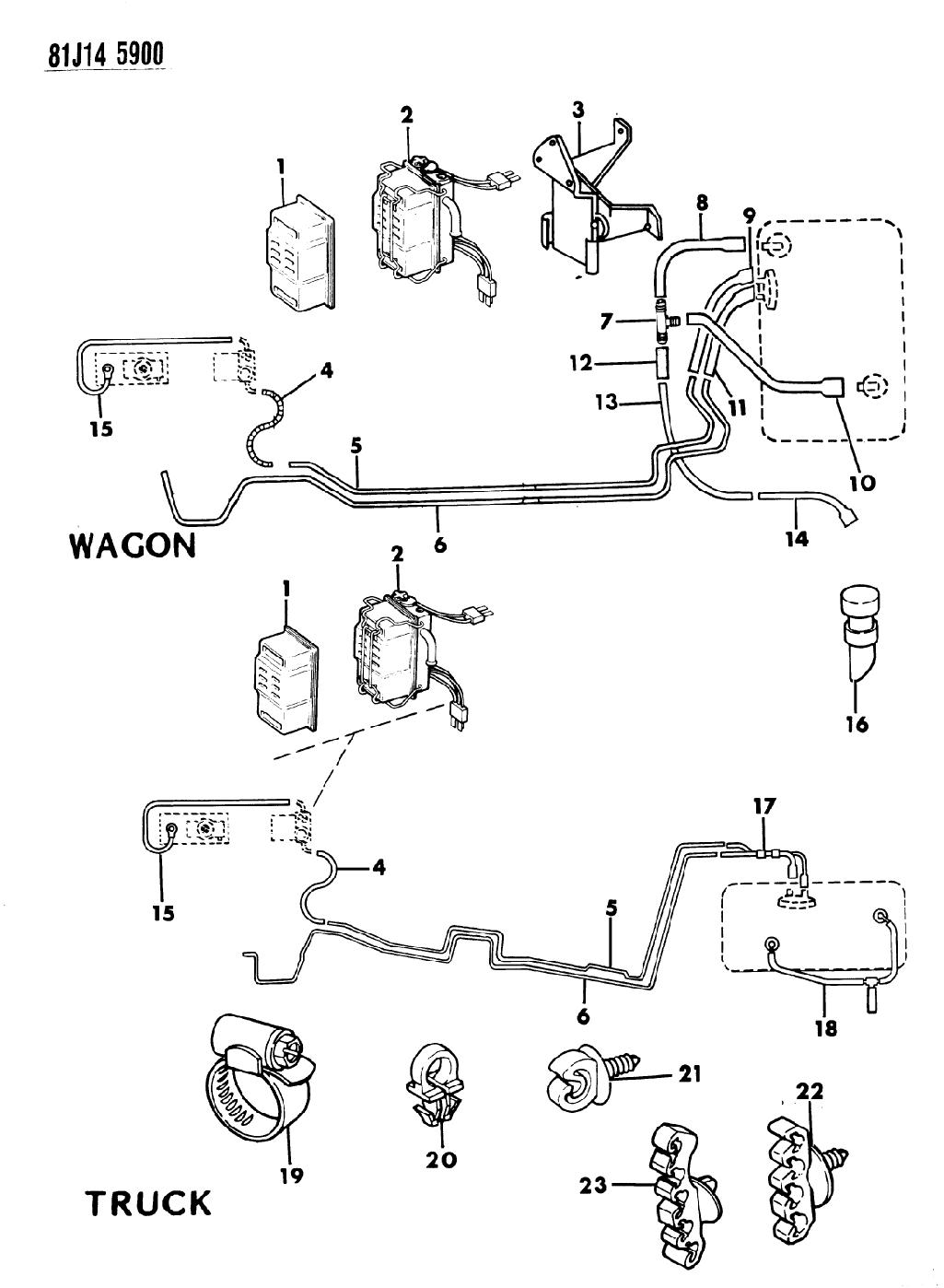 1986 Jeep Wagoneer Fuel Line