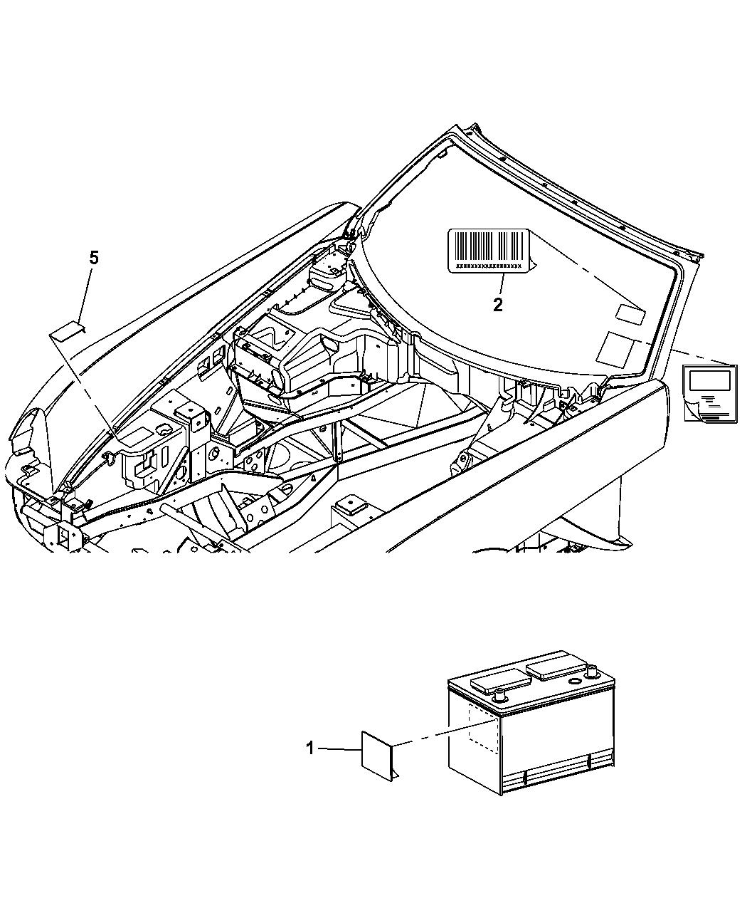 2008 Dodge Viper Engine Compartt - Mopar Parts Giant