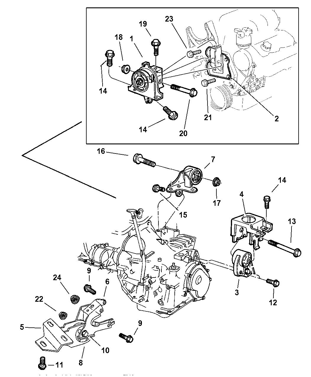 1997 Dodge Caravan Engine Mounts - Thumbnail 2