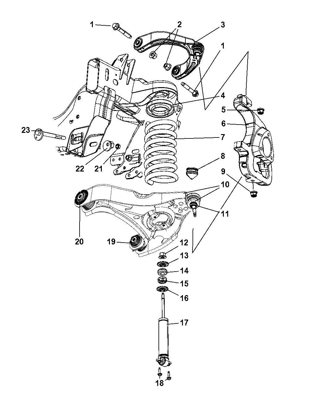 Dodge Ram 1500 Front End Parts Diagram