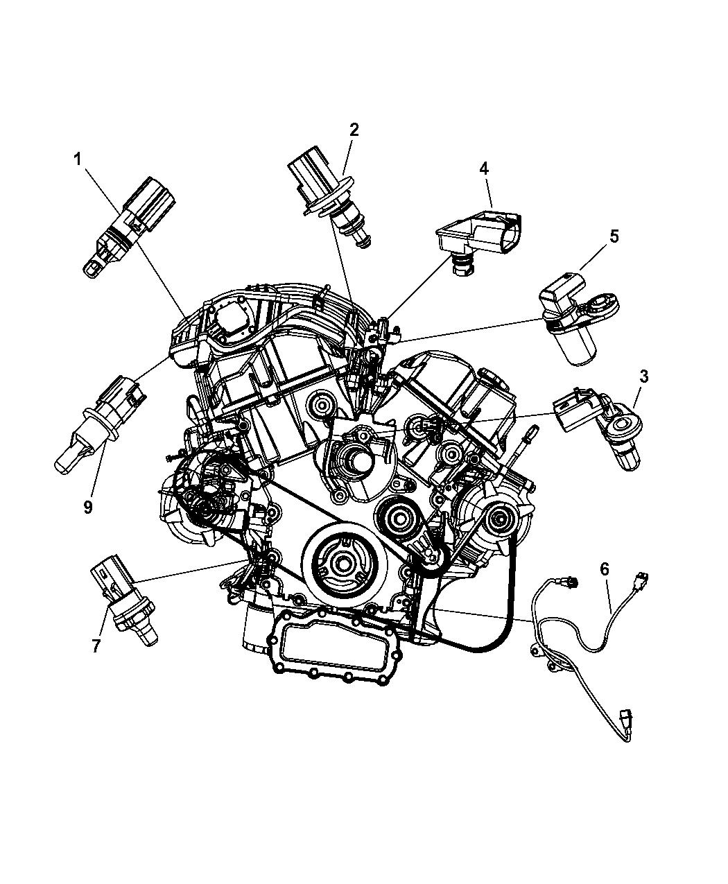 2009 Dodge Journey Sensors Engine Mopar Parts Giant Wiring Schematic Thumbnail 2