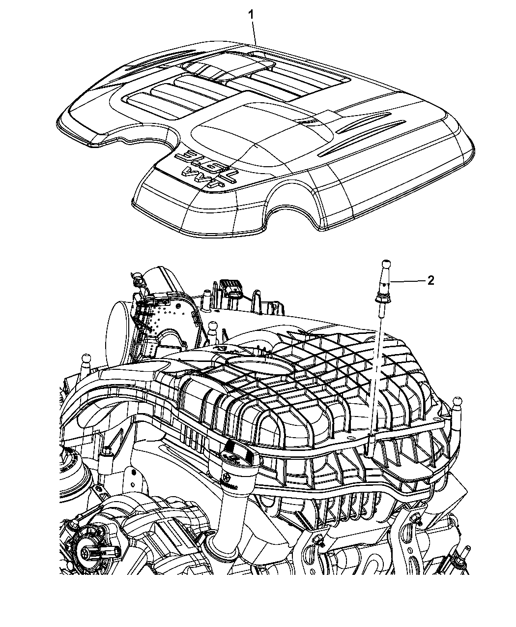 2015 Dodge Challenger Engine Covers & Related Parts