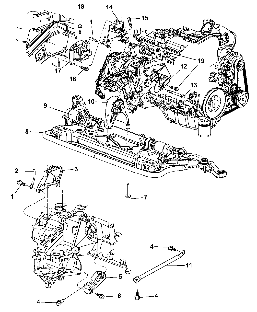 2006 dodge stratus engine diagram 2006 dodge stratus transmission mounts, rear mounts and ... #12