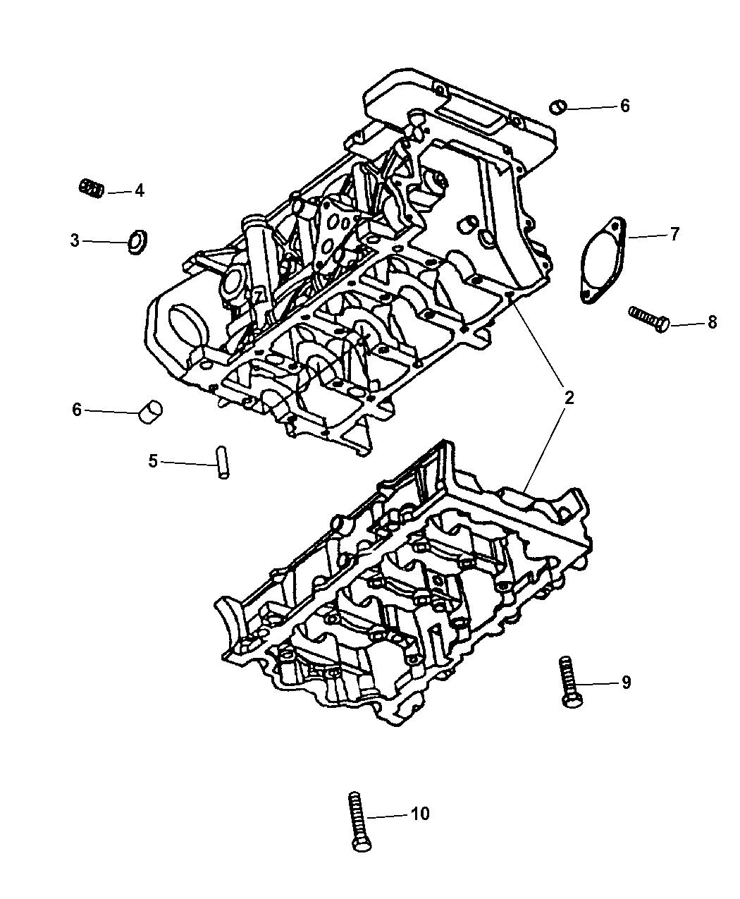 2006 Chrysler Pt Cruiser Cylinder Block Related Parts Engine Diagram Thumbnail 1