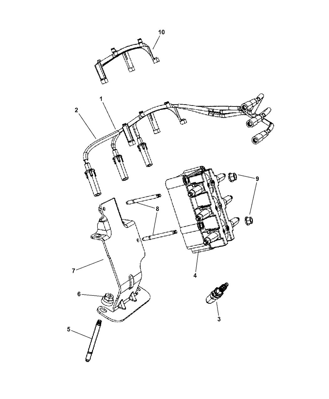 2007 Jeep Wrangler Spark Plugs, Cables & Coils