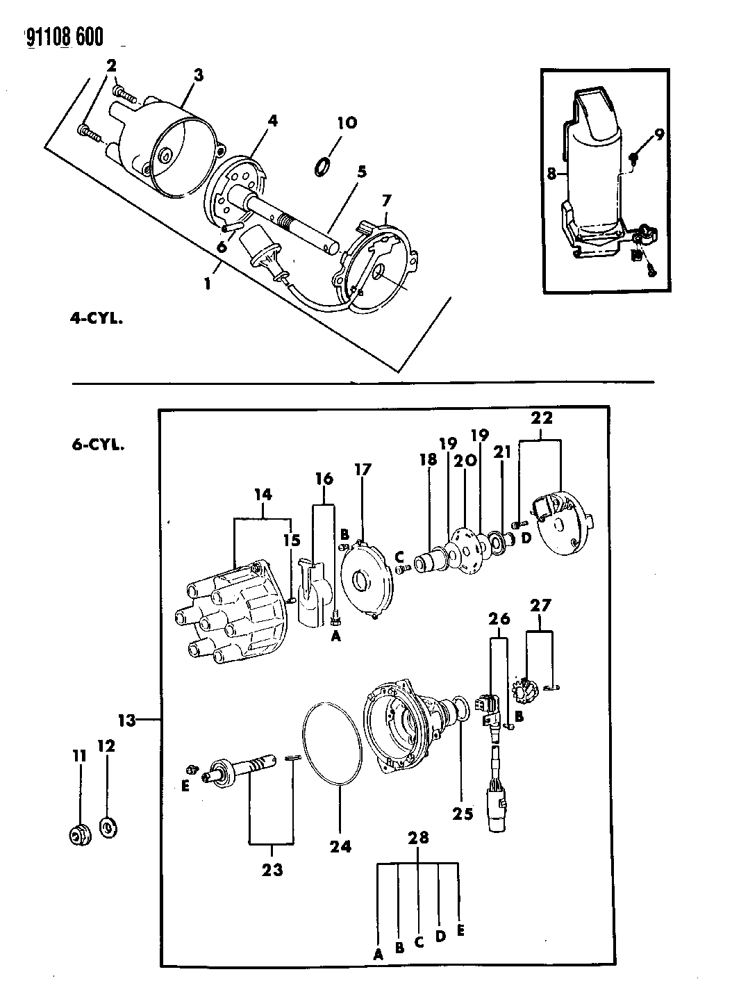 1991 Chrysler Lebaron Gtc Distributor Mopar Parts Giant Wiring Diagram