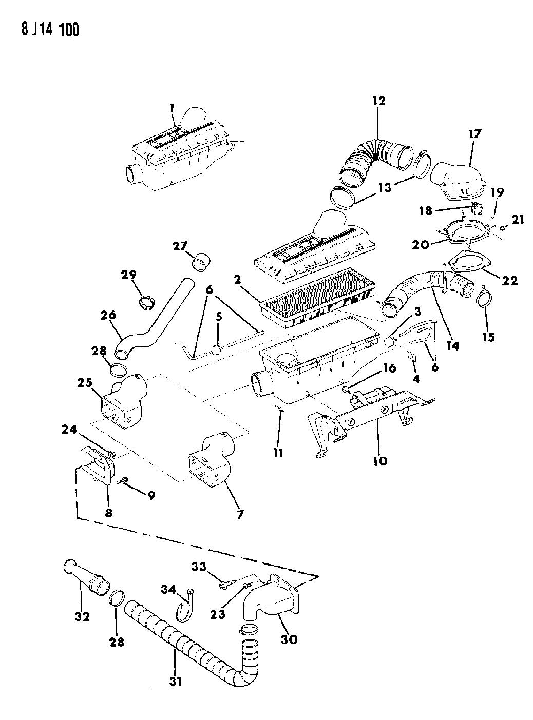 1990 Jeep Wrangler Air Cleaner Mopar Parts Giant Fuel Filter Thumbnail 1