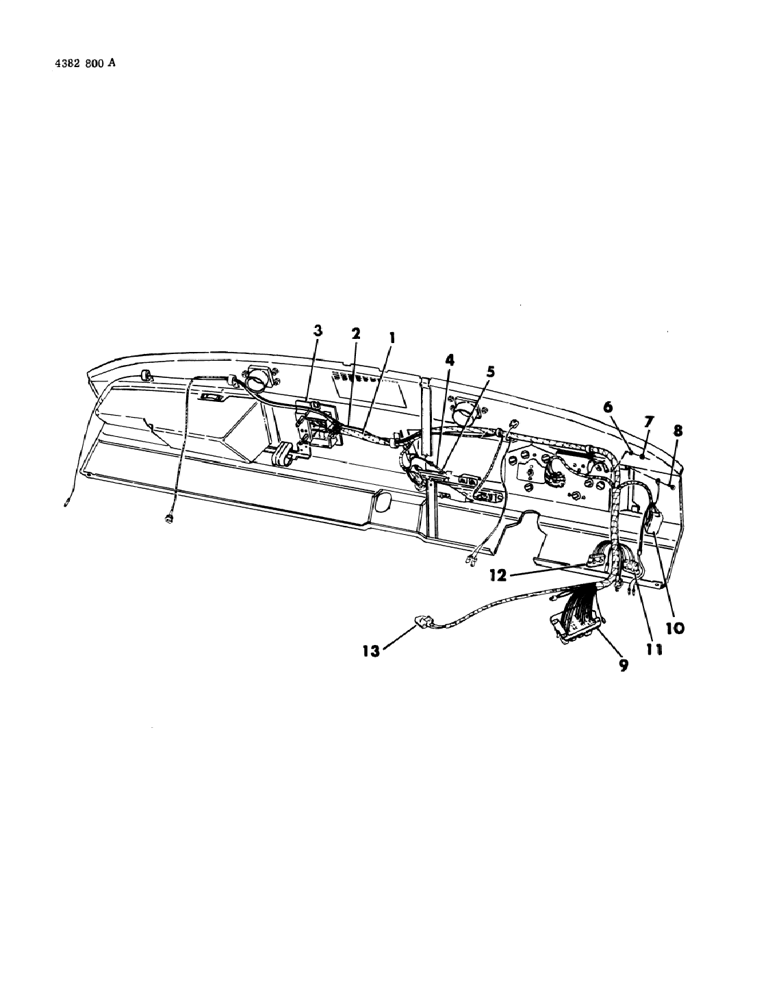1985 Dodge W150 Instrument Panel Wiring