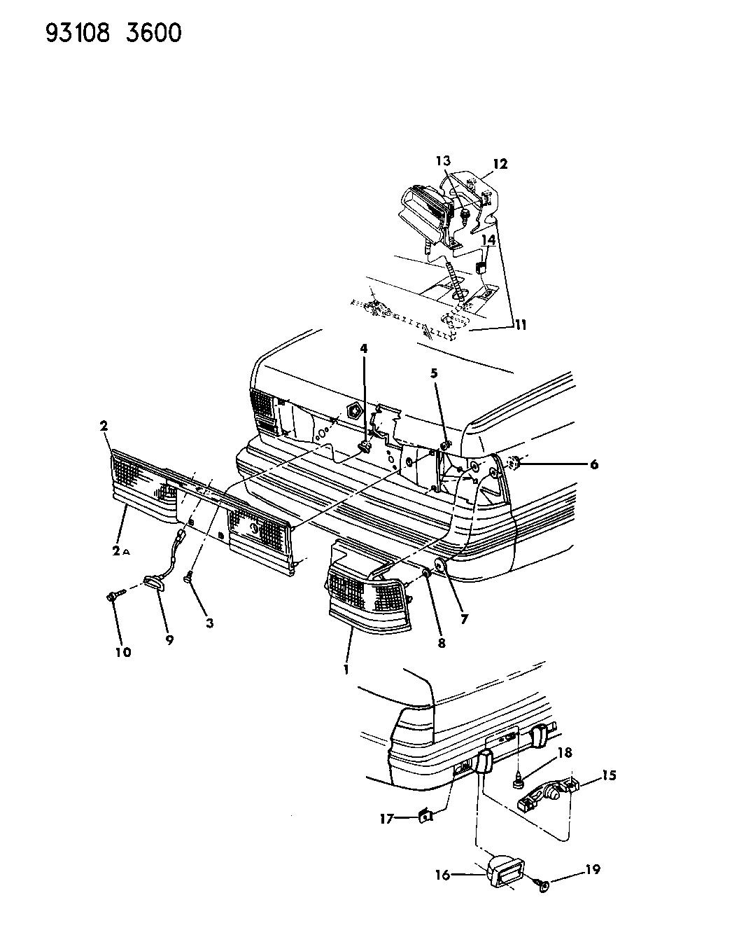 1993 Dodge Spirit Lamps Wiring Rear Mopar Parts Giant Diagram