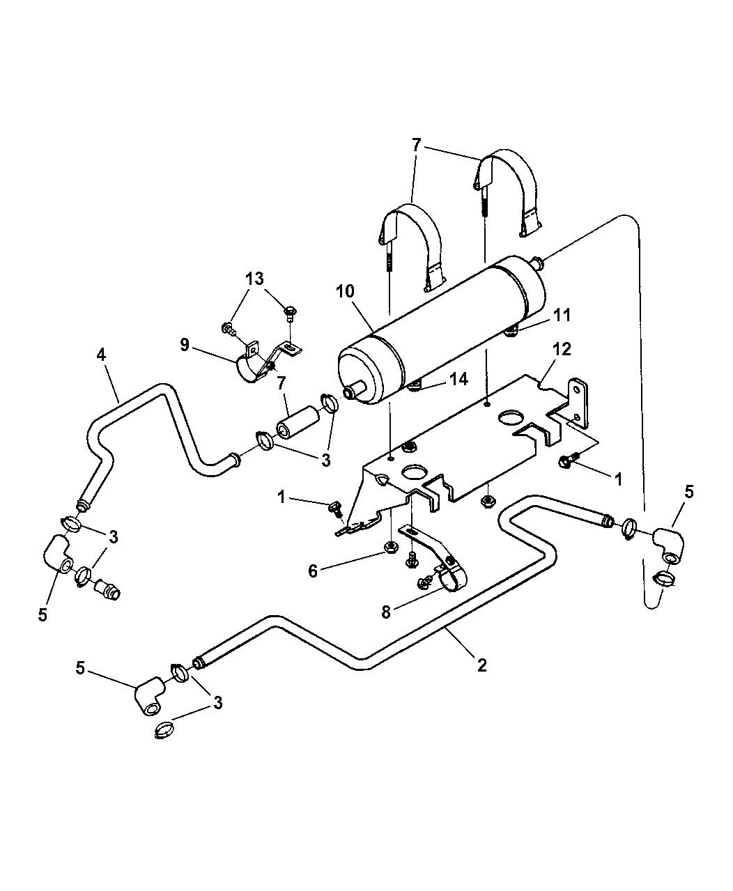 Auto Trans Oil Cooler Coolant Line Connector-VIN 6 Mopar 52028723AA