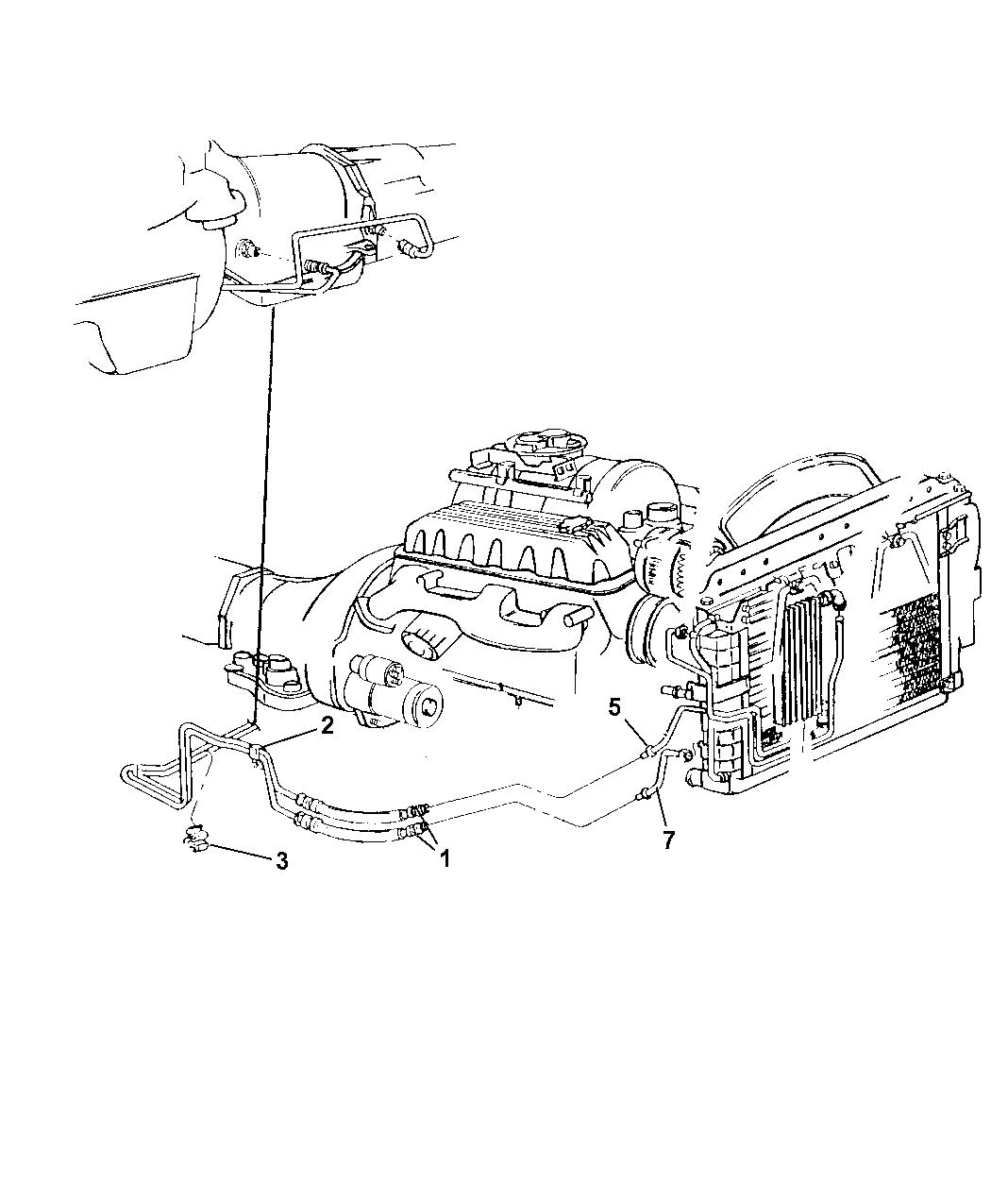 52079592AB - Genuine Mopar TUBE-OIL COOLER