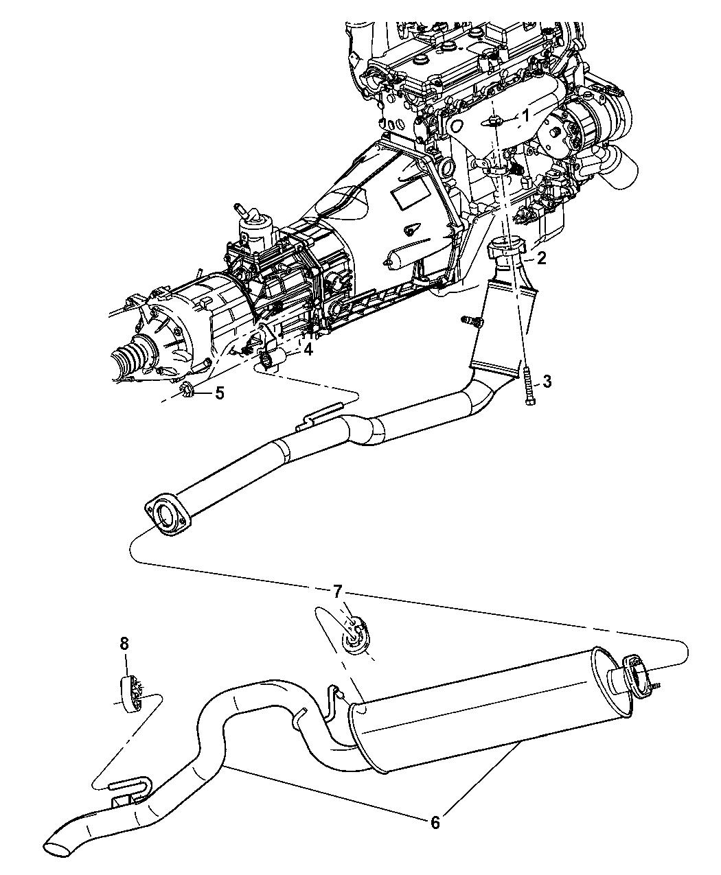2005 Jeep Liberty Exhaust System Mopar Parts Giant Diagram Thumbnail 2