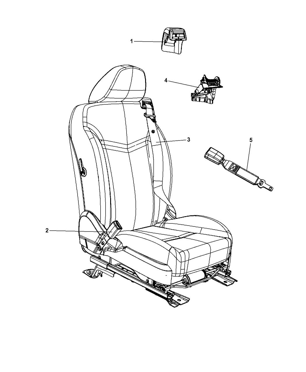 Chrysler 200: Seat Belts