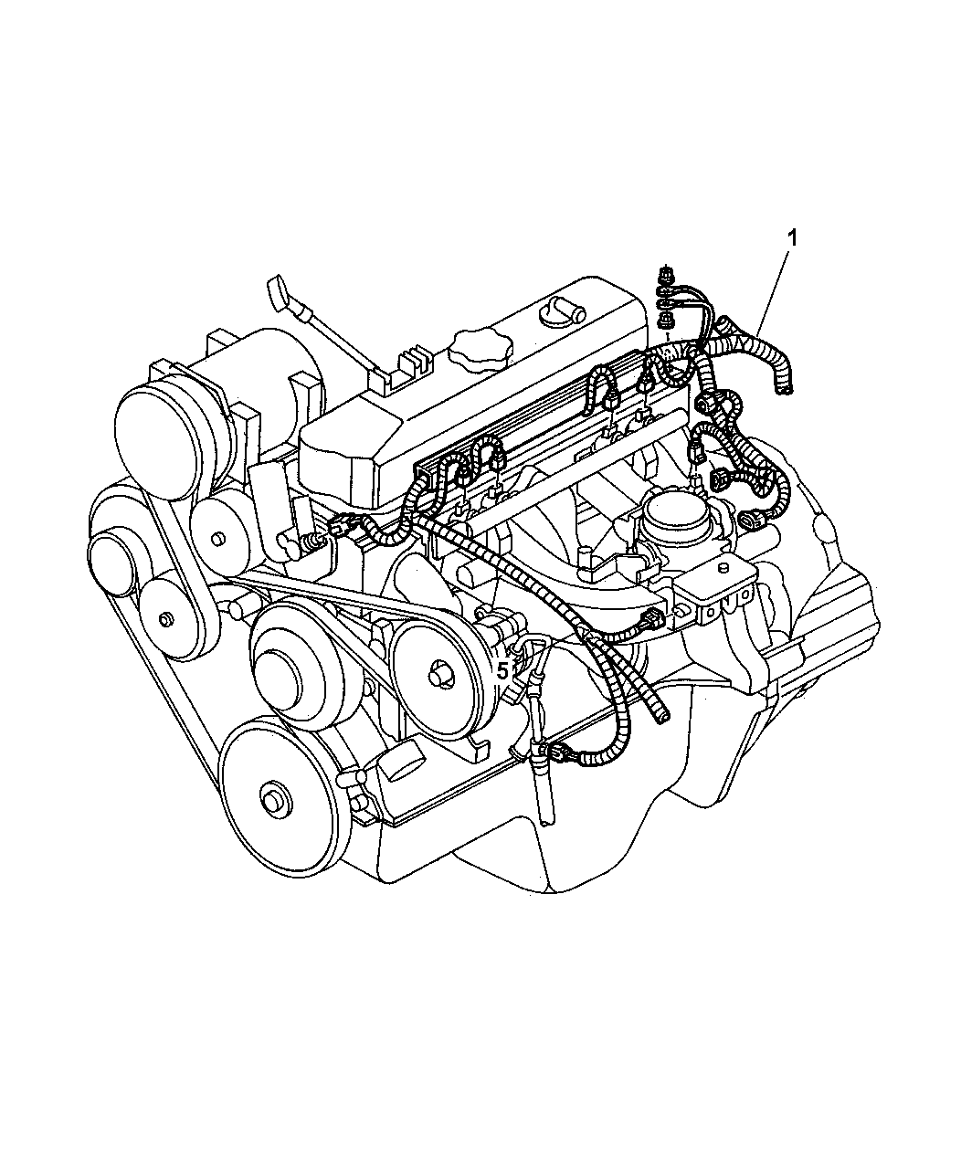 1997 dodge dakota wiring - engine