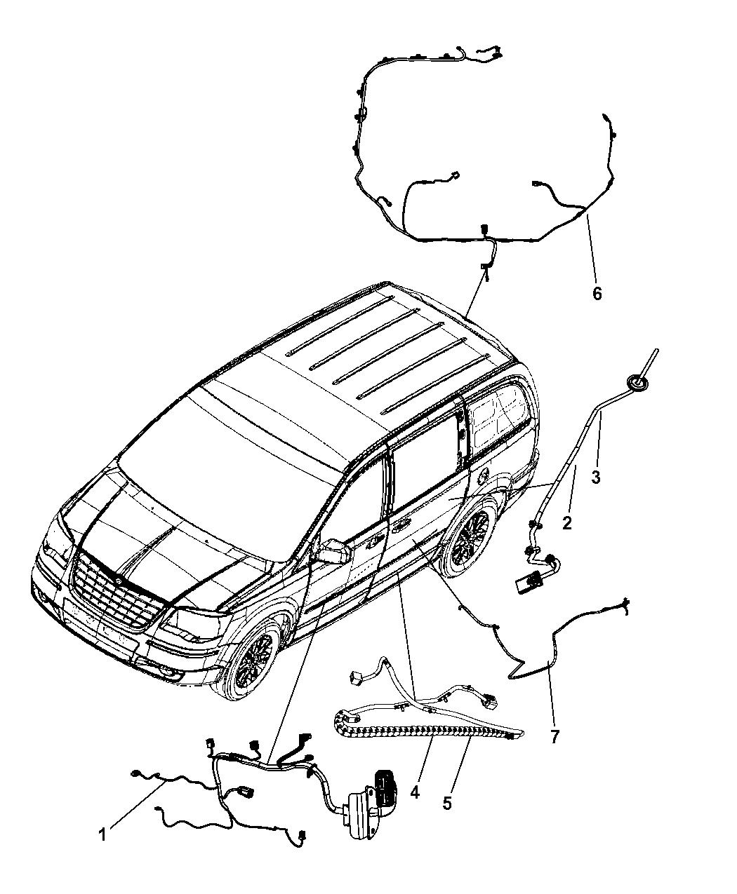 2009 Dodge Grand Caravan Wiring Door Deck Lid And Liftgate