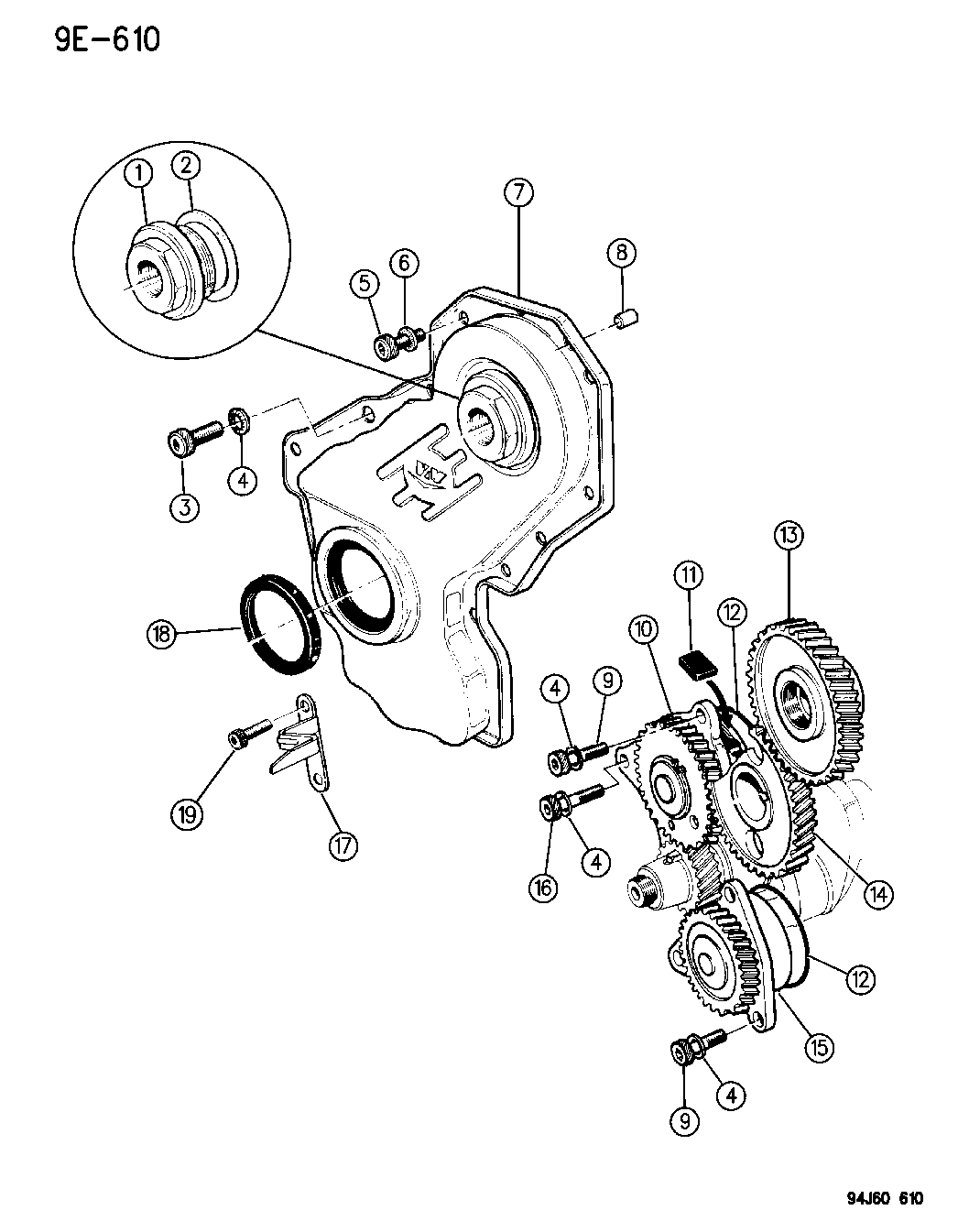 1995 Jeep Cherokee Timing Gears & Case
