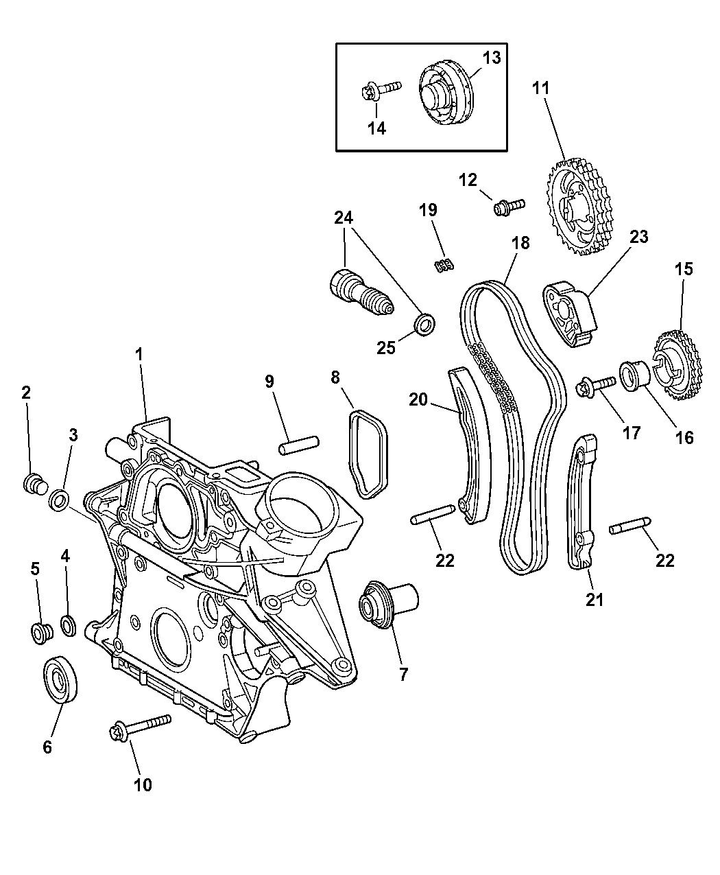 Touring furthermore 04724525AC further Mopar Guide Timing Chain 5080101aa likewise 2003 Land Rover Freelander Parts Catalog additionally 04724767AE. on pt cruiser roof diagram
