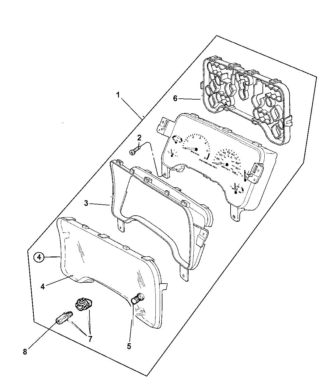 1997 Jeep Wrangler Instrument Cluster - Mopar Parts Giant