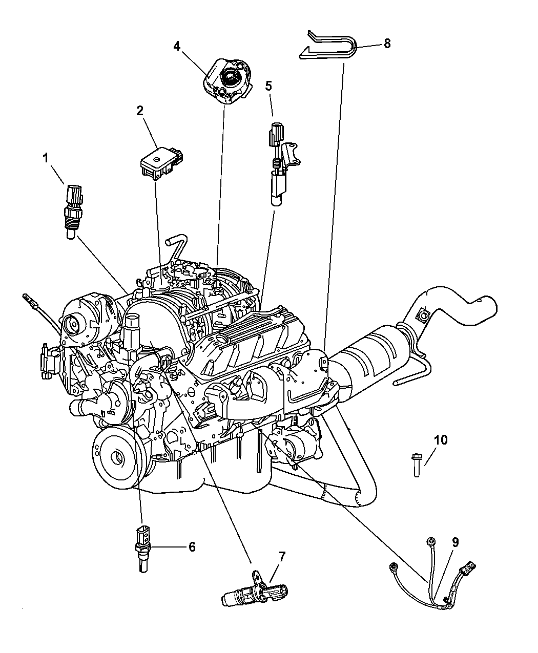 2008 Chrysler Aspen Sensors - Engine - Thumbnail 2