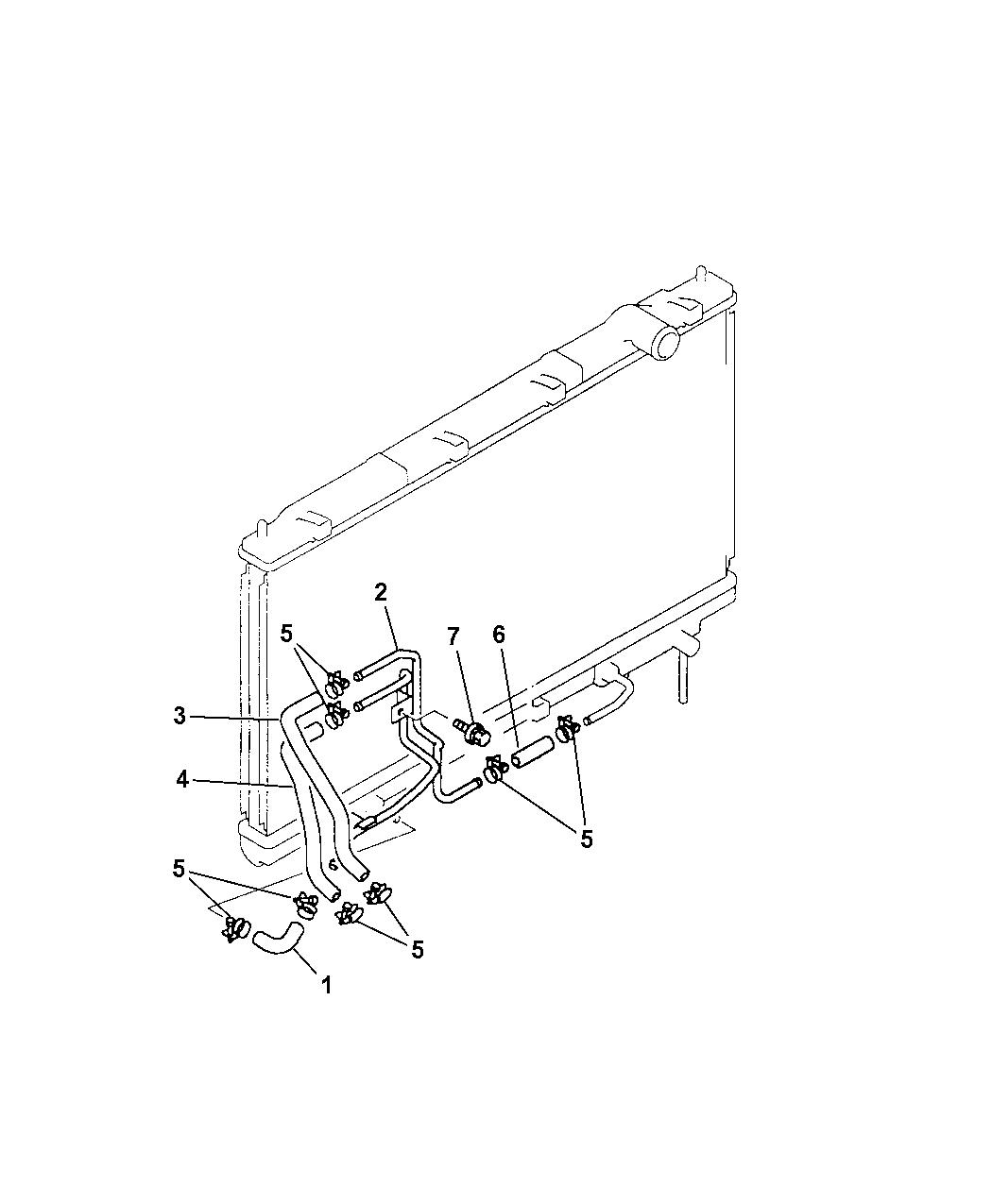 1999 Chrysler Sebring Coupe Cooler Transmission Lines