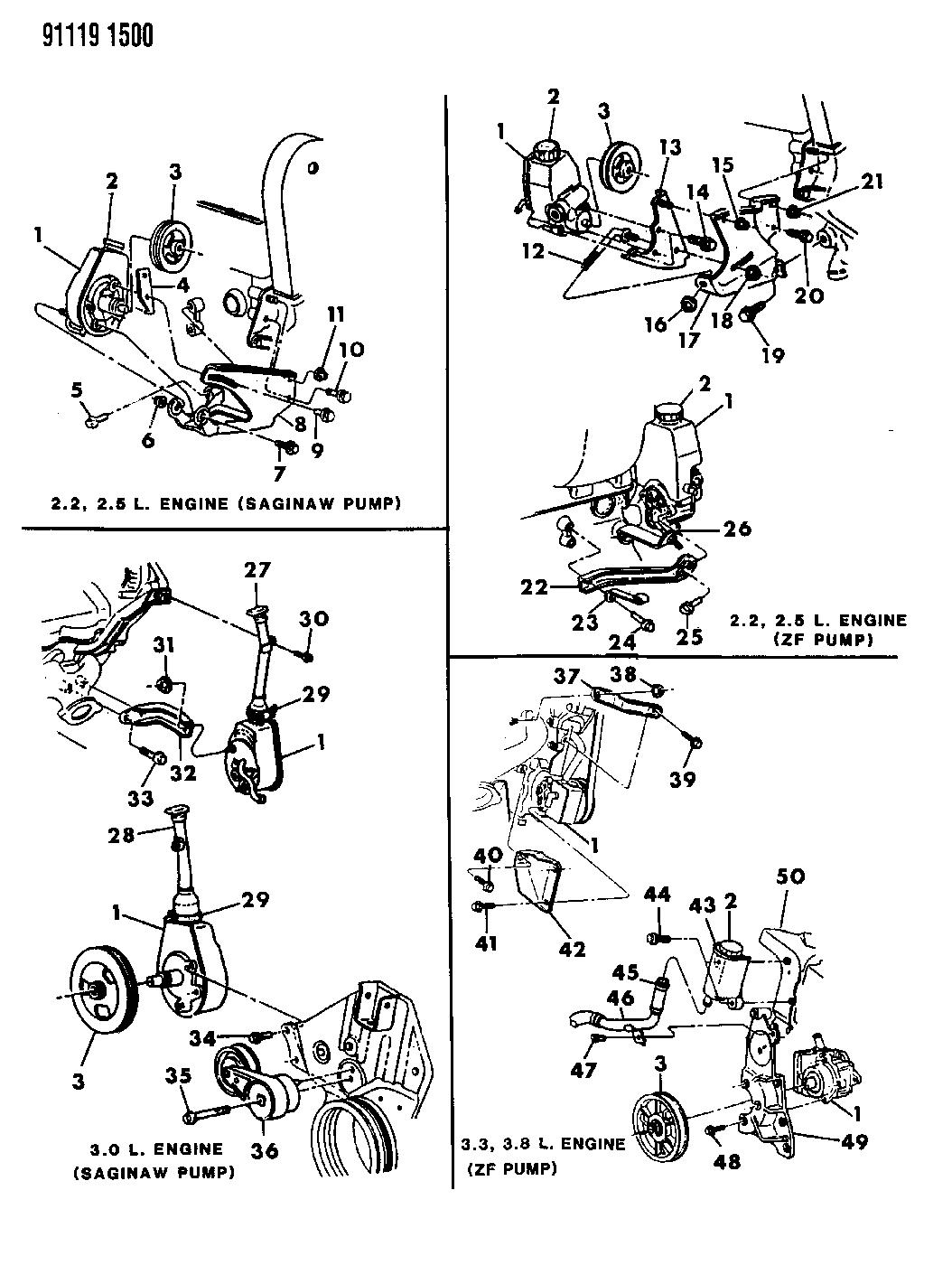 4333377 - Genuine Mopar POWER STEERING PUMP SEAL KIT