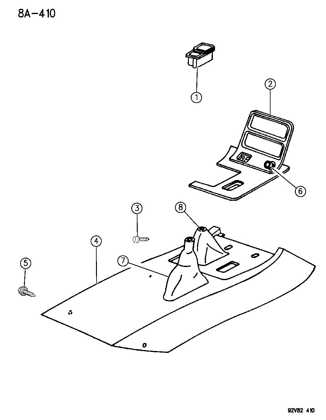 1994 Dodge Viper Console Mopar Parts Giant Wiring Diagram