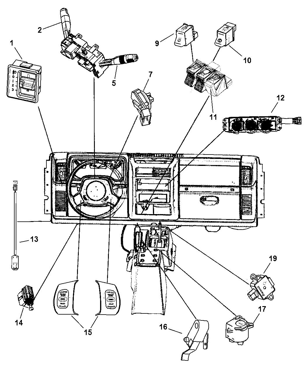 2003 Jeep Wrangler Switches