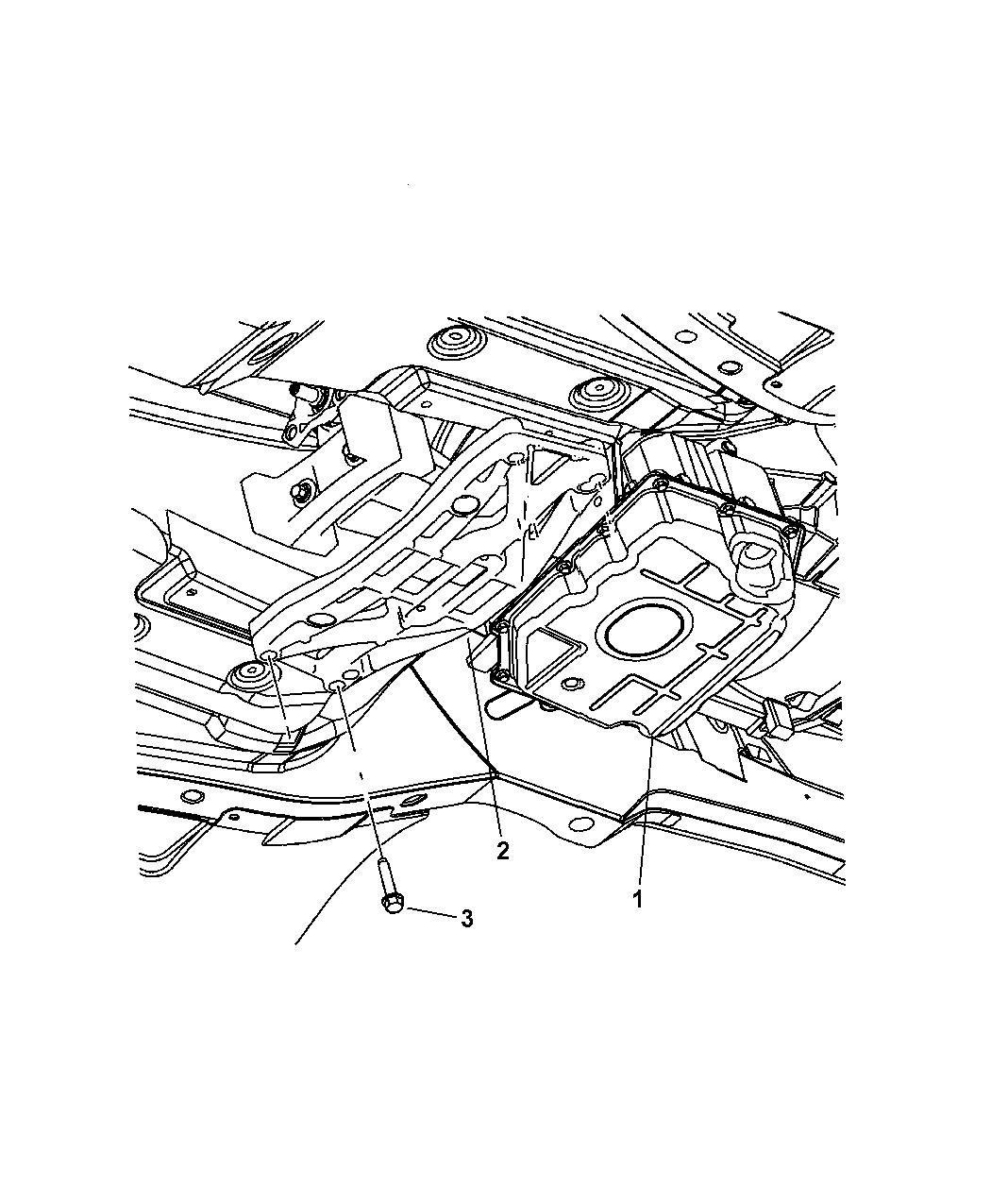 2005 chrysler 300 transmission crossmember to body