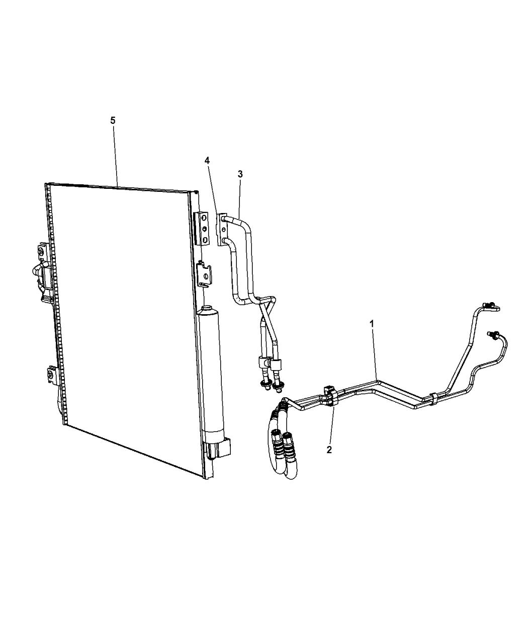 2007 Dodge Nitro Transmission Oil Cooler & Lines