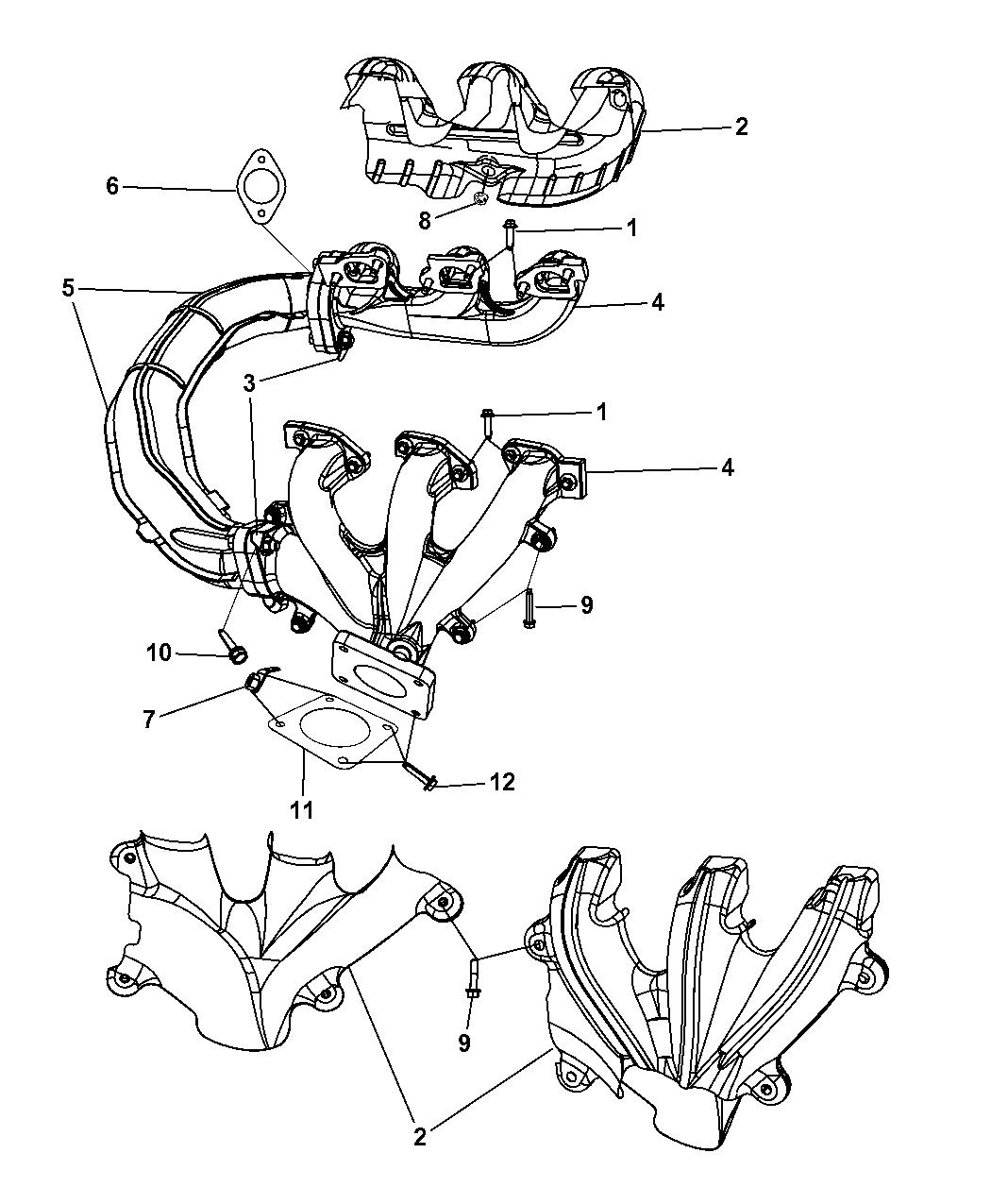 Genuine Chrysler 4666088AC Exhaust Manifold Shield