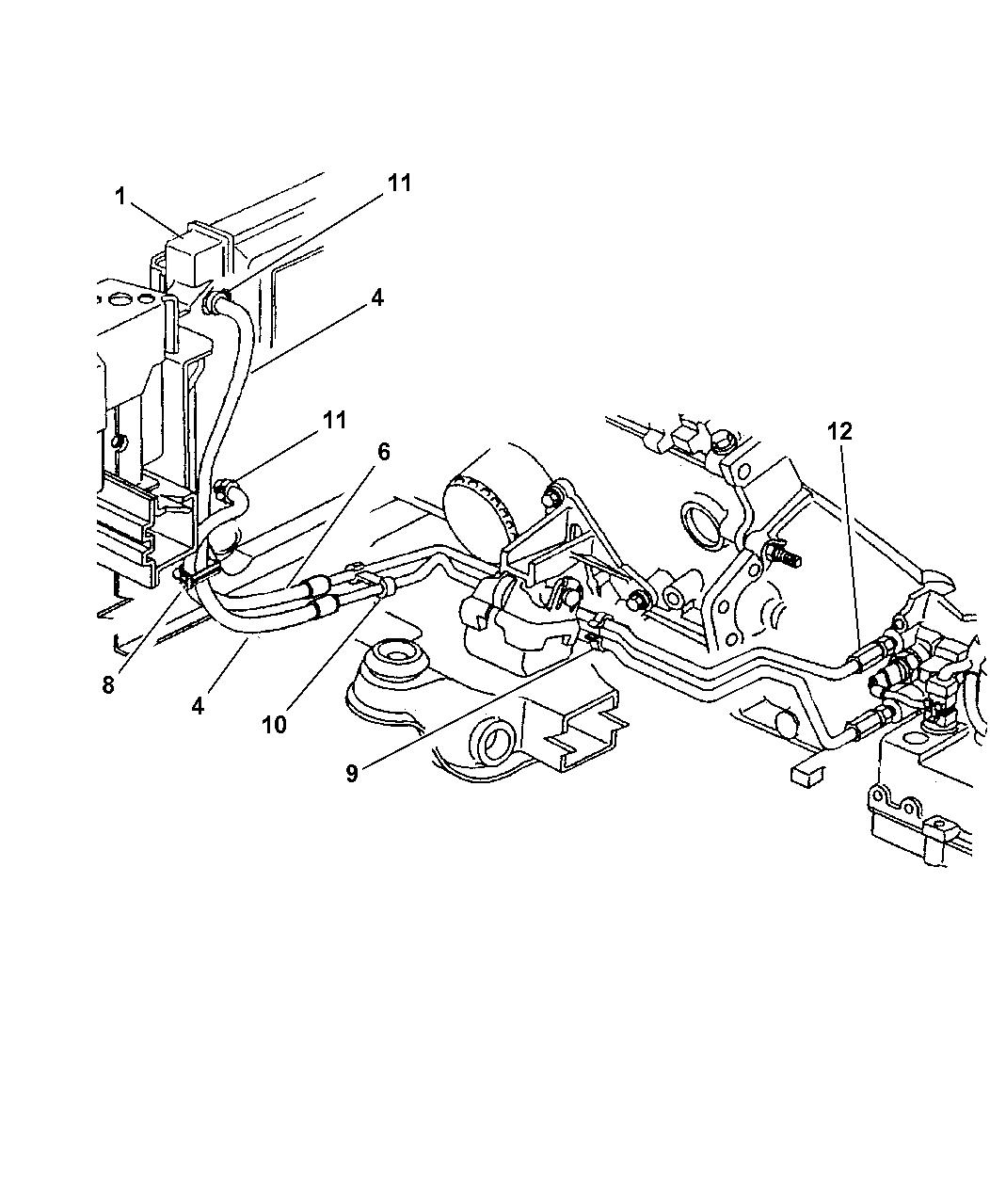 4758186AB - Genuine Mopar HOSE-OIL COOLER