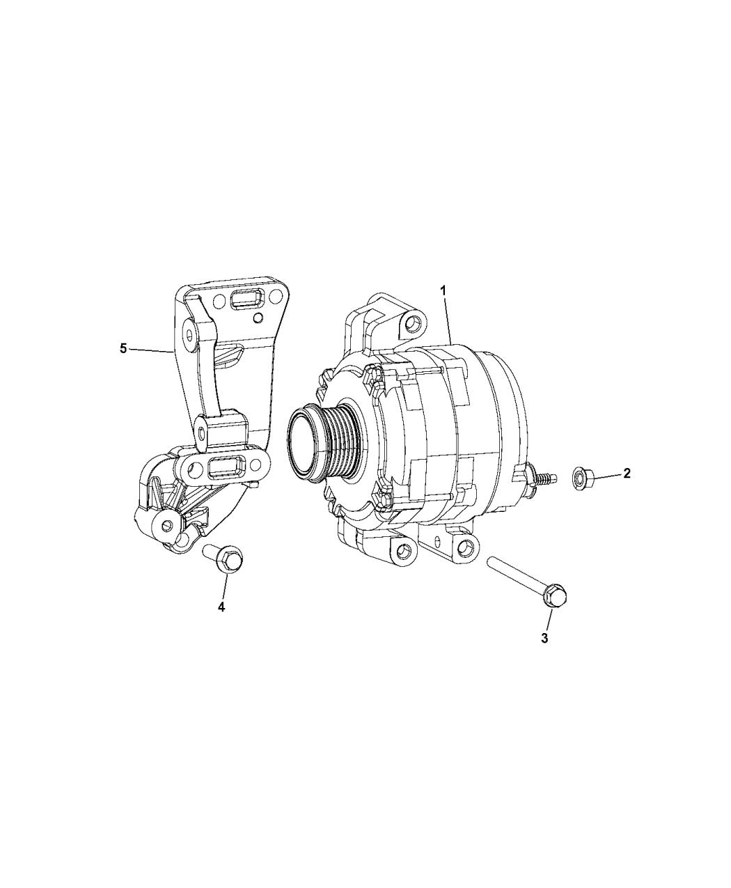 2015 Ram ProMaster City Generator/Alternator - Mopar Parts Giant