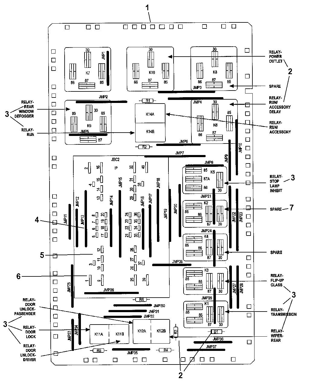 2008 jeep commander junction block fuses, relays, \u0026 circuit breakers Jeep Patriot Wiring Schematic
