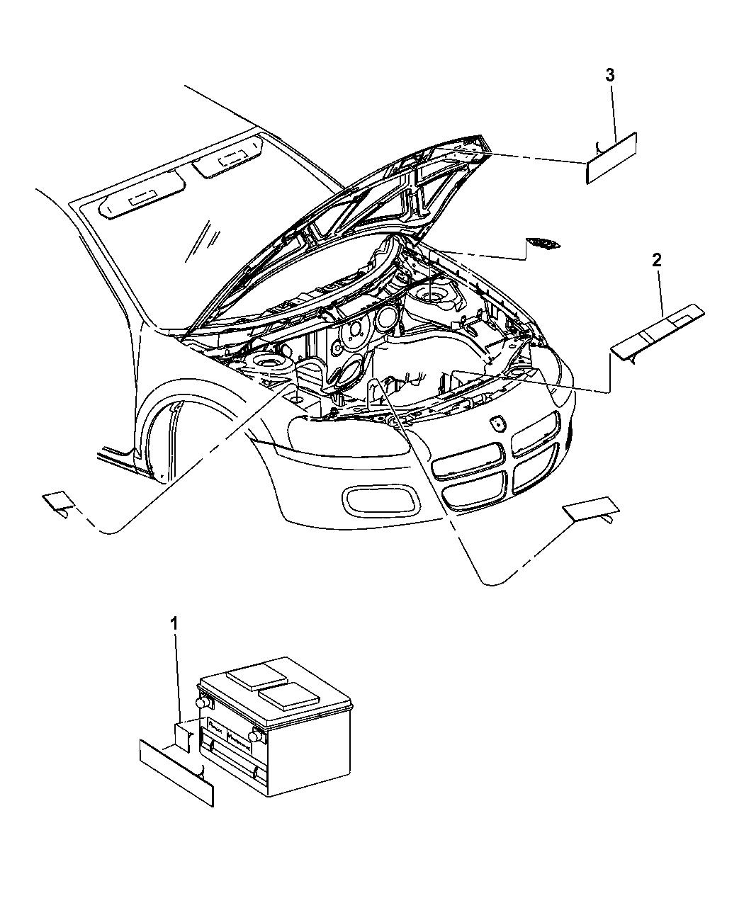 2008 Dodge Avenger Engine Compartt - Mopar Parts Giant