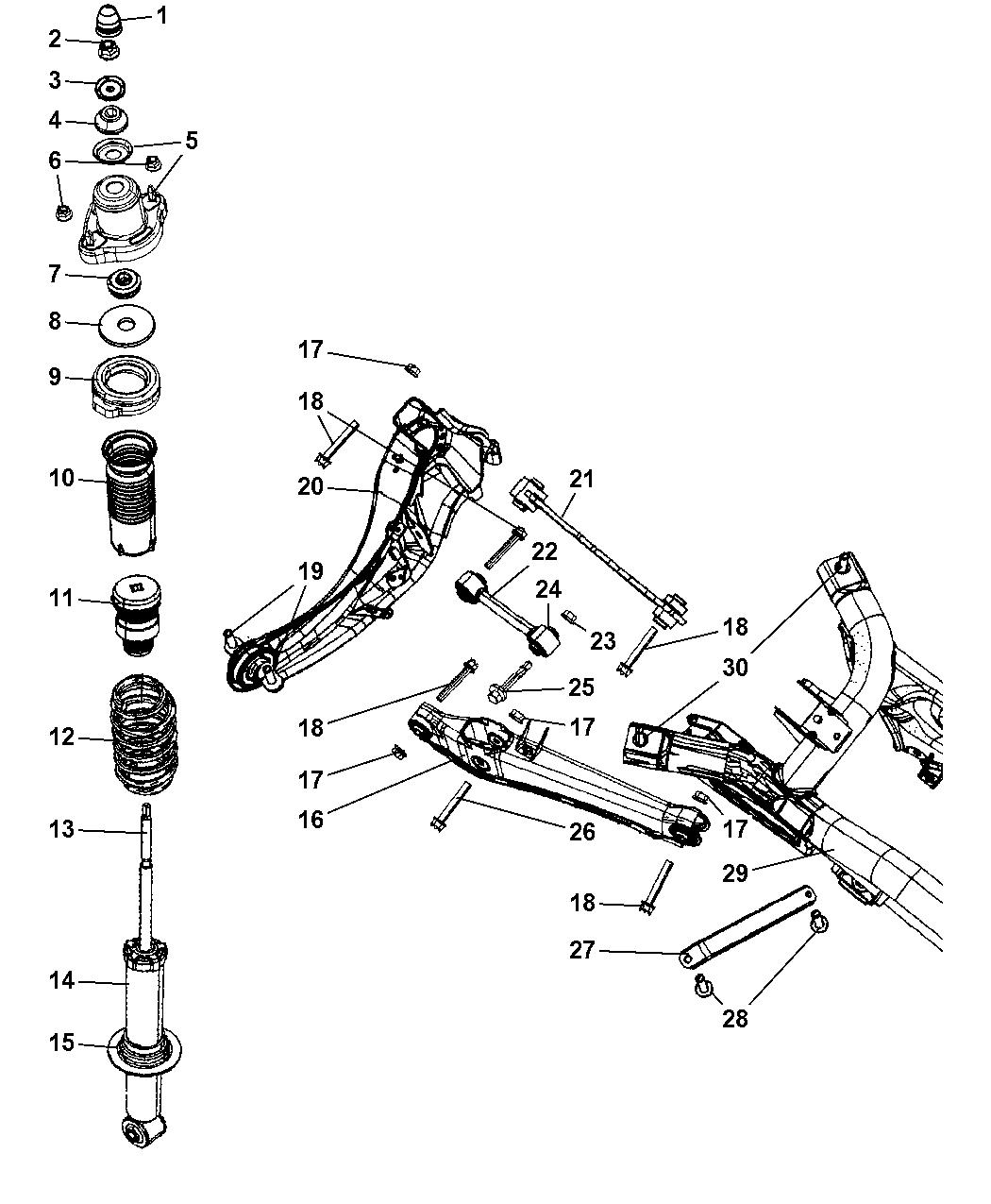 2008 Jeep Compass Suspension - Rear