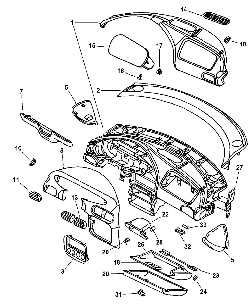2000 Chrysler Cirrus Instrument Panel