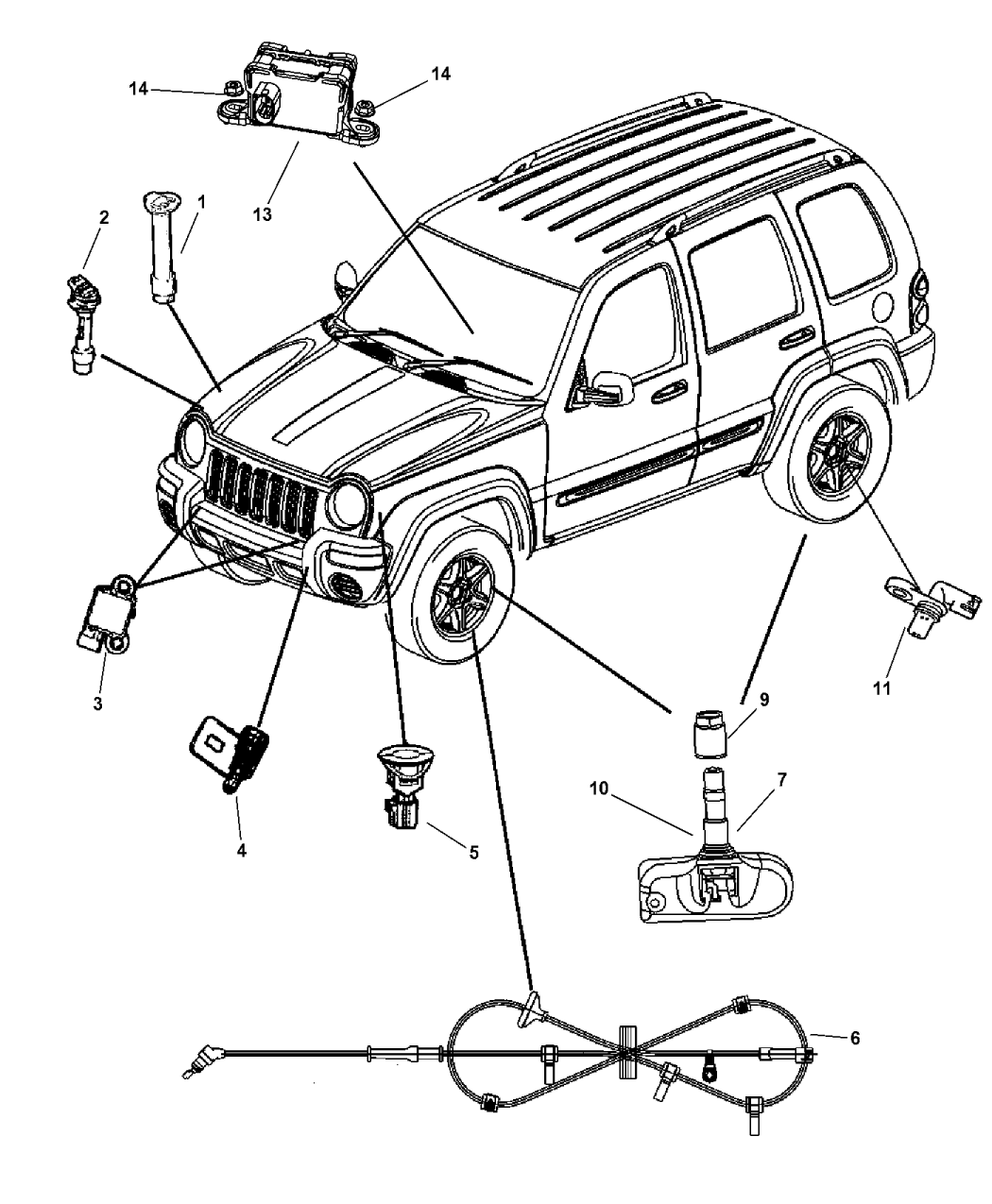 2006 Jeep Liberty Sensor (Body)