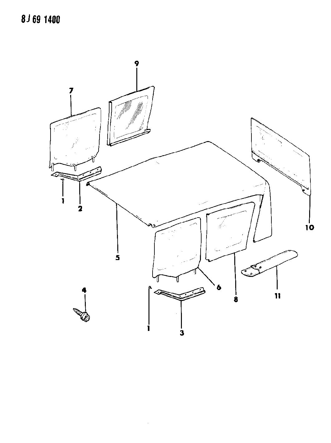 1989 Jeep Wrangler Soft Top U0026 Windows   Thumbnail 1