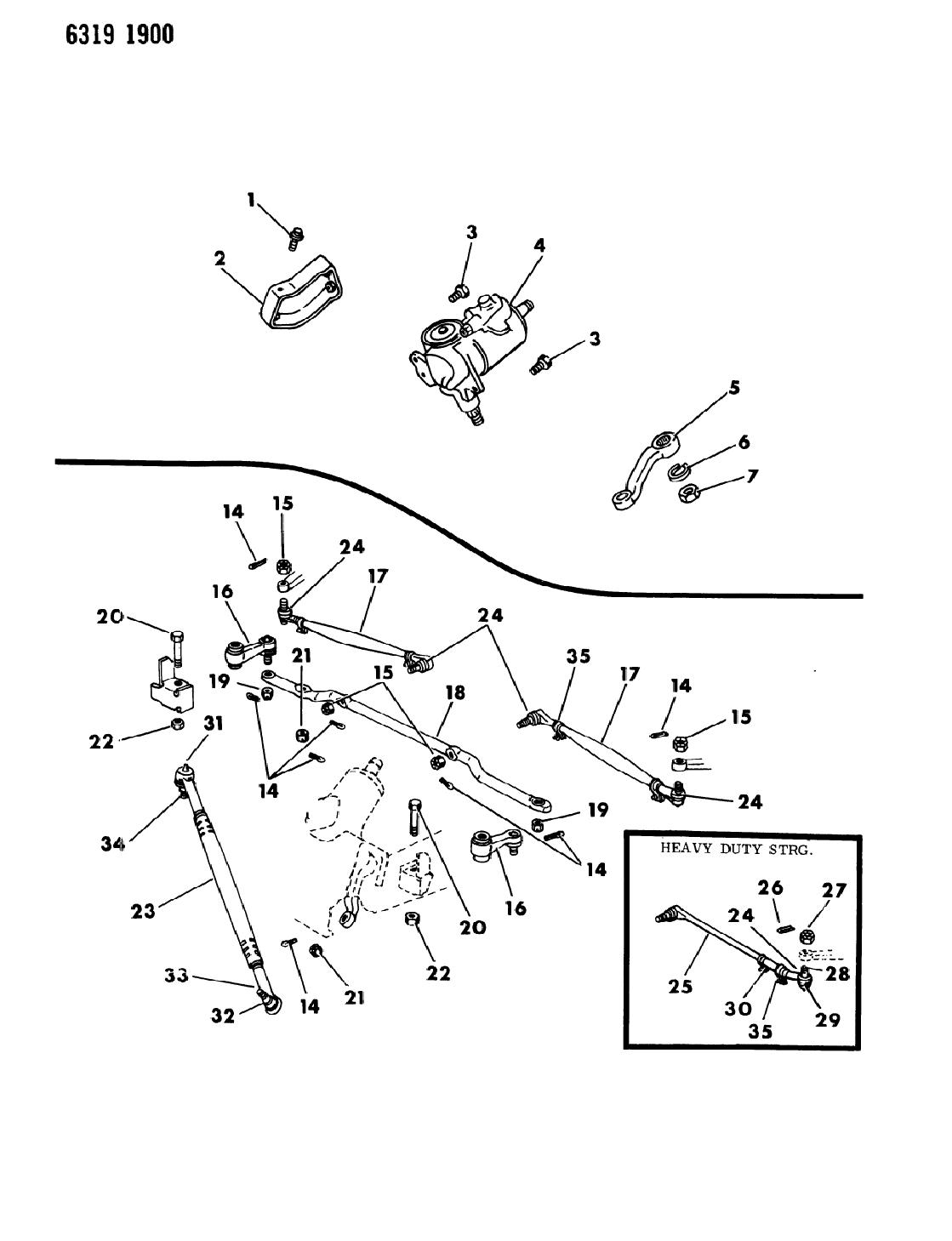 1987 dodge ram van gear  u0026 linkage  steering