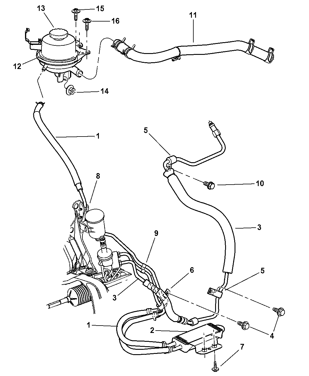 2002 Chrysler Town & Country Power Steering Hoses