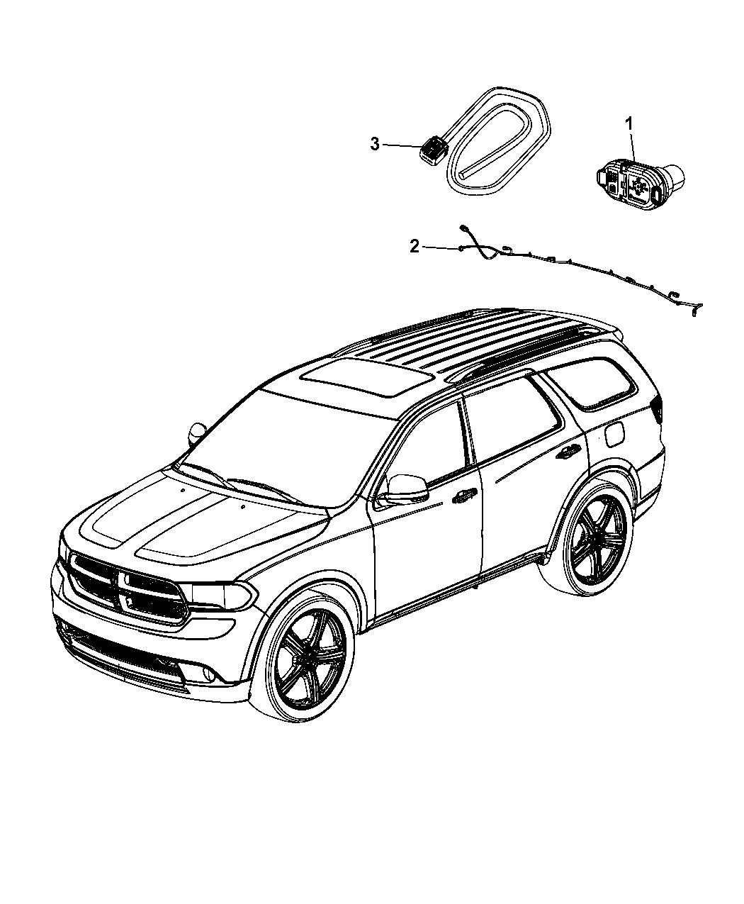 68088278aa Genuine Dodge Wiring Ki Trailer Tow