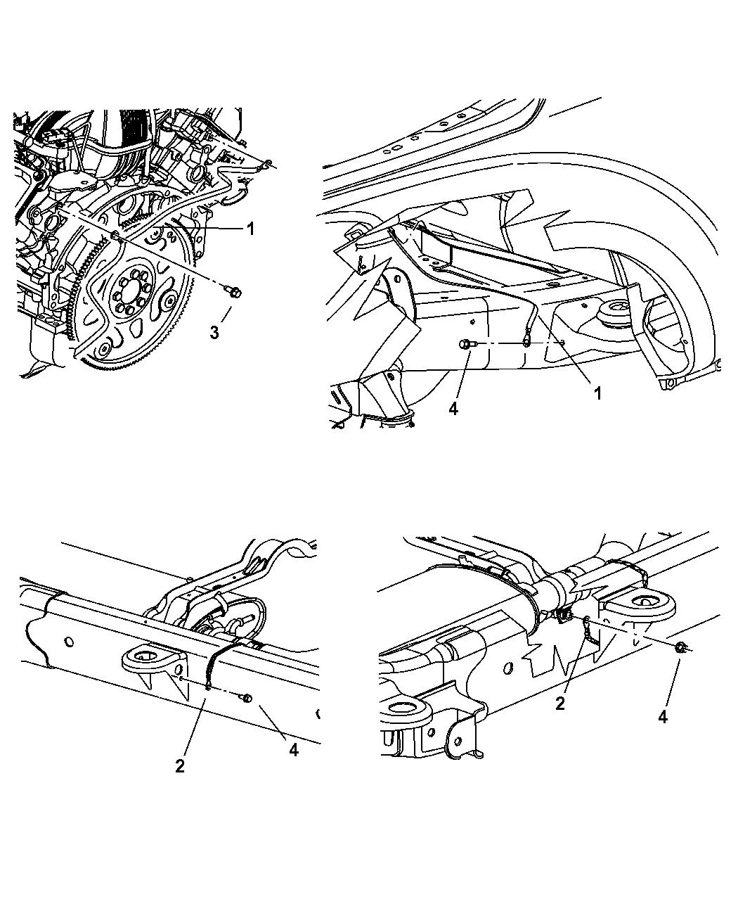 2006 Dodge Durango Ground Straps Engine