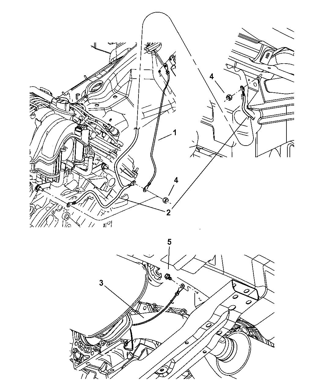 2007 Jeep Commander Ground Straps-Engine