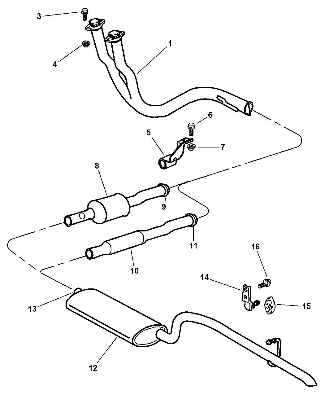 1997 jeep cherokee exhaust diagram 52101040 - genuine jeep clamp-exhaust 1997 jeep cherokee wiring diagram